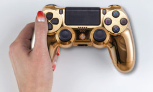 Playstation 4 controller gold