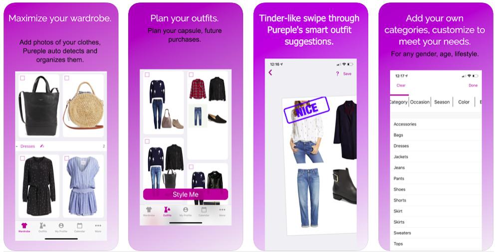 Pureple Outfit Planner clothes app