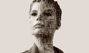 Woman robot android
