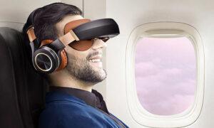 wearable virtual cinema headset