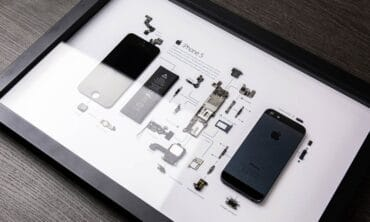 Grid iPhone 5 artwork disassembled smartphones