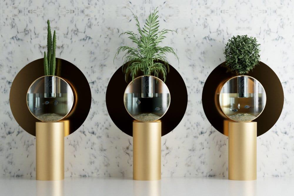 Aqua aquaponics planter