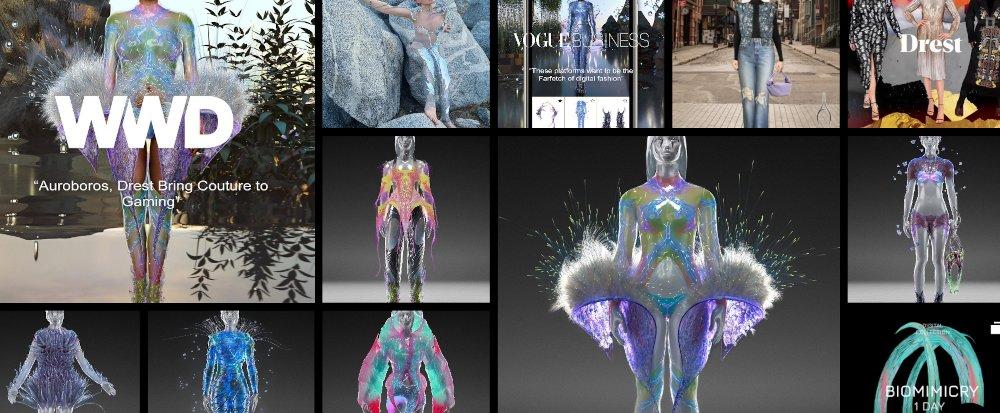Drest Auroboros digital fashion