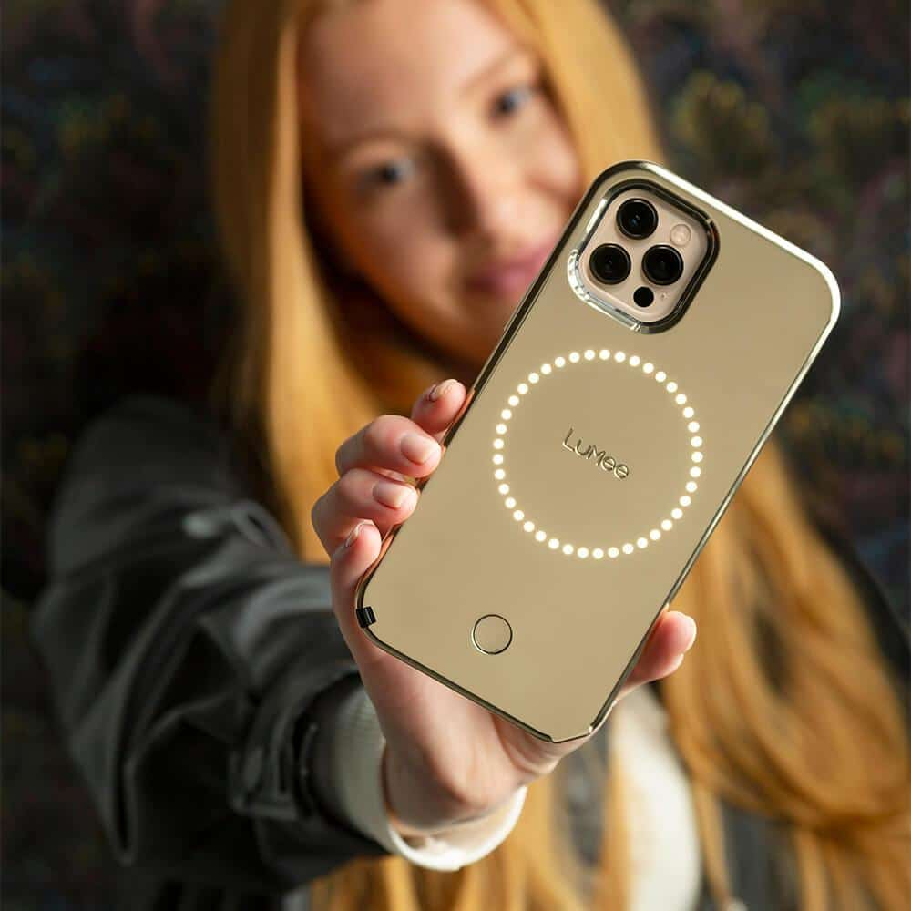 luMee Halo case for Apple iPhone 12 with ring light