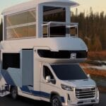 This expanding campervan has its own elevator