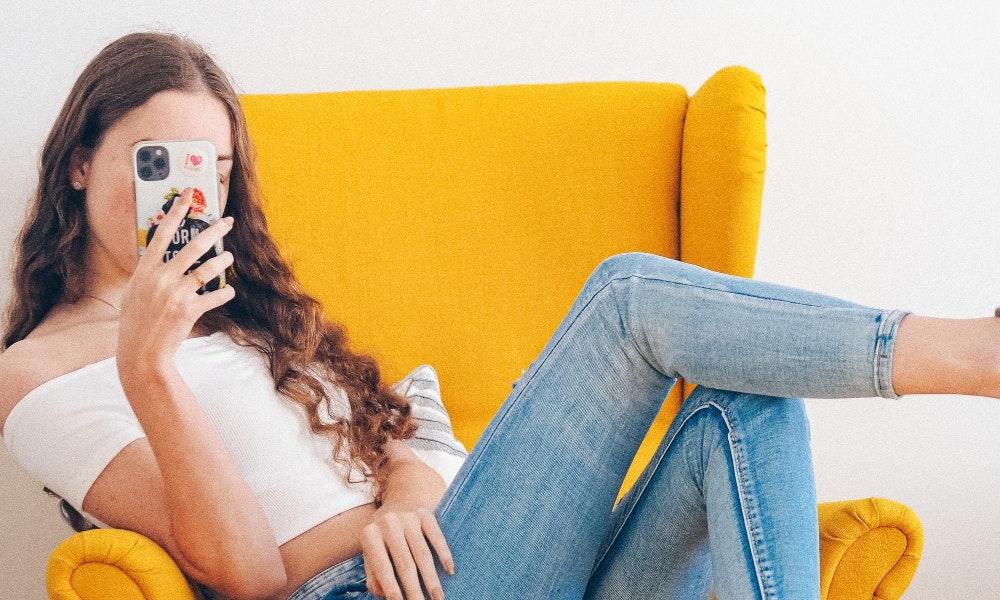 woman phone tiktok